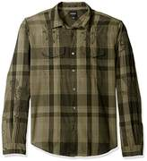 GUESS Men's Jake Voile Plaid Shirt