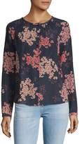 Rebecca Taylor Women's Phlox Floral Silk Blouse