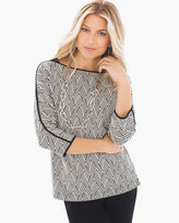 Chico's Diamond Jacquard Top