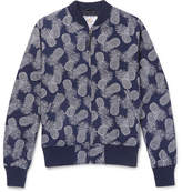 GoldenBear Golden Bear - Pineapple-Print Textured-Cotton Bomber Jacket