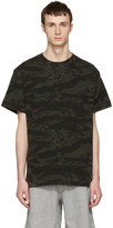 Alexander Wang Green Camouflage Back Panel T-Shirt