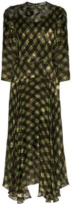 Preen by Thornton Bregazzi Brooke gingham midi dress
