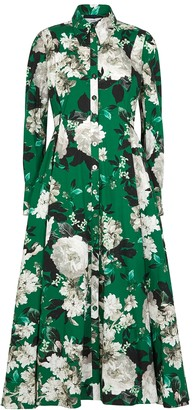 Erdem Josianne floral-print cotton shirt dress