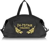DSQUARED2 24-7 Star Icon Black Canvas Duffle Bag