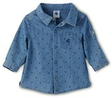 Petit Bateau Baby boy long-sleeved printed denim shirt