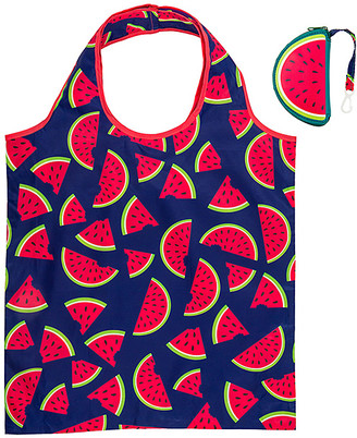 Wit! Gifts Totebags - Navy & Red Watermelon Packable Shopping Tote