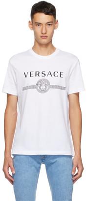 Versace White Classic Medusa Taylor T-Shirt