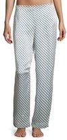 Beautiful Bottoms Arrow-Print Silk-Satin Pajama Pants, Blue Pattern