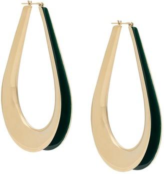 Annelise Michelson Enamel Hoop Earrings