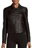 Muu Baa Gulrro Leather Biker Jacket
