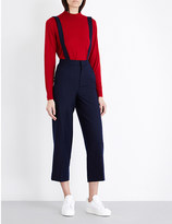 Mo&Co. Tapered wool-blend dungarees