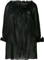 Ermanno Scervino off-shoulders sheer blouse - women - Cotton - 40