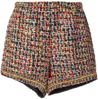 Tiger In The Rain woven knitted shorts