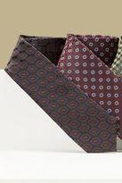 Next Mens Brown/Navy Patterned Tie
