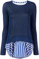 Dondup shirt trim sweatshirt - women - Cotton/Polyamide/Viscose - M
