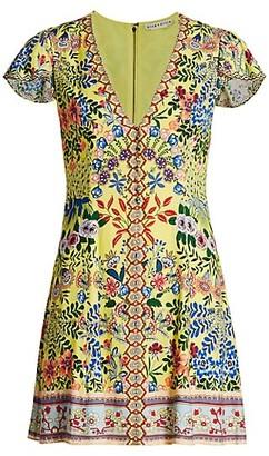 Alice + Olivia Hadley Floral Mini Fit & Flare Dress