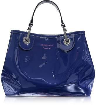 Emporio Armani Eco-Patent Leather Small Tote Bag