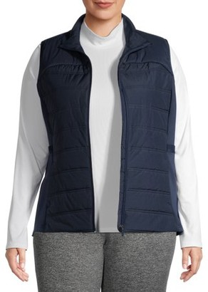 Avia Women's Plus Size Athletic Quilted Puffer Vest
