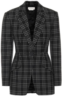 Alexander McQueen Checked virgin wool blazer