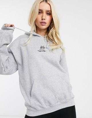 New Love Club kitty hoodie-Grey