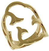Babette Wasserman Women's 18ct Yellow Gold Plated Sterling Silver Cloud Ring - of Size M