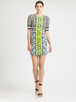 Peter Pilotto Printed Raglan-Sleeve Dress