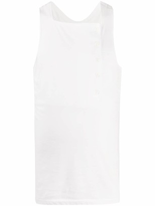 Yohji Yamamoto Off-Center Placket Tank Top