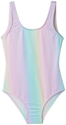 Stella Cove Girls' Rainbow Tank One-Piece Swimsuit, 2-14