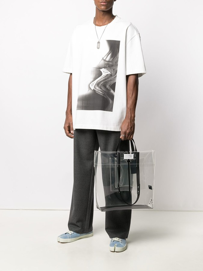 Thumbnail for your product : Maison Margiela Clear Logo Foldover Tote Bag
