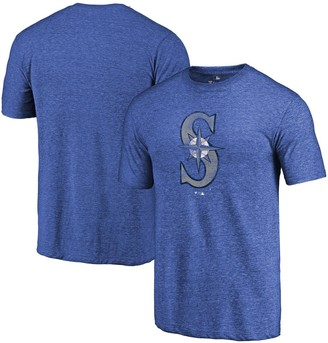 Fanatics Men's Heathered Royal Seattle Mariners Distressed Team Tri-Blend T-Shirt