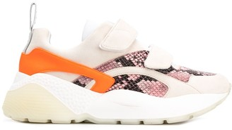Stella McCartney python effect Eclypse touch strap sneakers