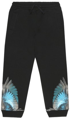 Marcelo Burlon Kids Of Milan Wings cotton-blend trackpants