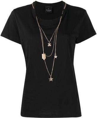 Pinko Chopin three-necklace T-shirt