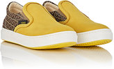 Fendi NUBUCK & JACQUARD SLIP-ON SNEAKERS-YELLOW, BROWN, BEIGE, NO COLOR SIZE 8