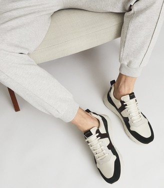 Reiss Shelton - Leather Trainers in Cream