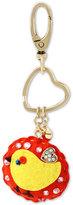 Betsey Johnson Gold-Tone Fabric Bird Keychain