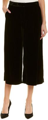Tibi Velvet Silk-Blend Culotte