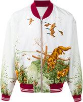 Maison Margiela fox print bomber jacket - men - Silk - 50