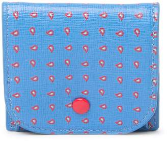 Coccinelle Pine Print Leather Mini Coin Pouch