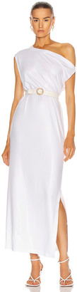 Norma Kamali Drop Shoulder Gown in White | FWRD