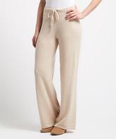 Heather Oatmeal Cashmere Lounge Pants