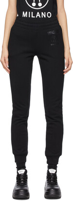 Moschino Black Double Question Mark Lounge Pants
