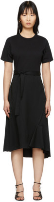 3.1 Phillip Lim Black Wool Combo T-Shirt Dress