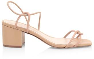Schutz Airana Leather Slingback Sandals