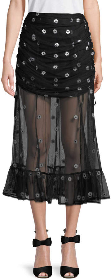 Alice McCall Women's Floral Pleated Skirt