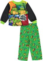 "Teenage Mutant Ninja Turtles Little Boys' Toddler ""Turtle-riffic!"" 2-Piece Pajamas"