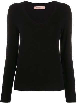 Twin-Set fitted V-neck pullover