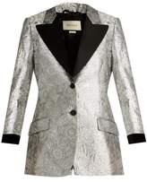 Gucci Floral-brocade single-breasted blazer