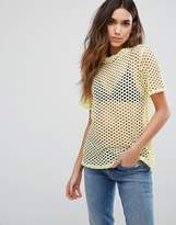 New Look Fishnet Boyfriend Tee
