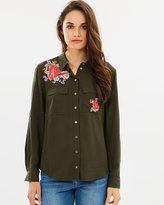 Oasis Embroidered Rose Shirt